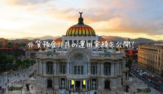 【2019年11月運用実績】外貨預金(スワップポイント)【メキシコペソ】