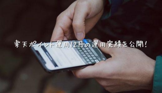 【2019年12月運用実績】楽天ポイント運用【アクティブ】