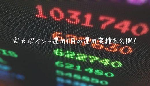 【2020年01月運用実績】楽天ポイント運用【アクティブ】