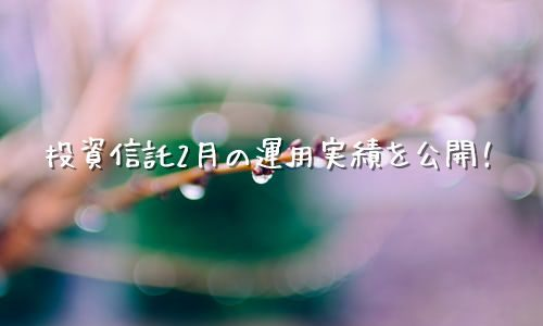 【2020年2月運用実績】100円から始める投資信託生活【楽天証券】