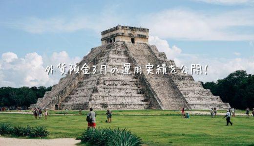 【2020年3月運用実績】外貨預金(スワップポイント)【メキシコペソ】