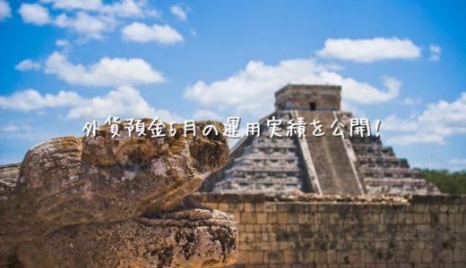 【2020年5月運用実績】外貨預金(スワップポイント)【メキシコペソ】