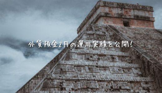 【2021年2月運用実績】外貨預金(スワップポイント)【メキシコペソ】